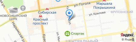 Банкомат Банк Финансовая Корпорация Открытие на карте Новосибирска