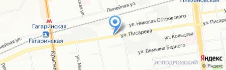 Внештекстильторг на карте Новосибирска