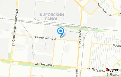 Местоположение на карте пункта техосмотра по адресу г Новосибирск, проезд Северный, д 7