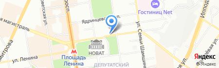 НИАН на карте Новосибирска