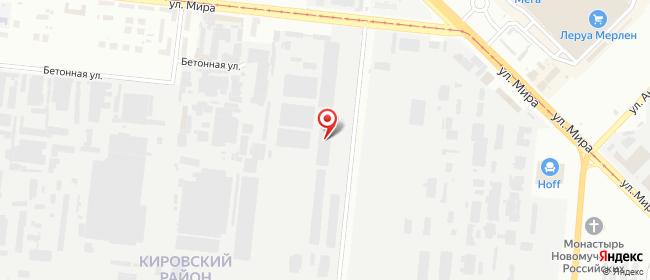 Карта расположения пункта доставки DPD Pickup в городе Новосибирск