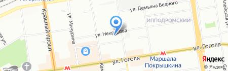 КИВИ на карте Новосибирска