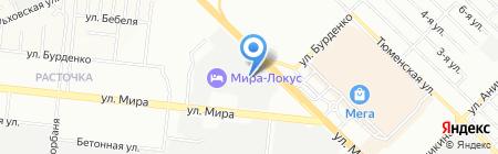 ЕДС-Карусель на карте Новосибирска