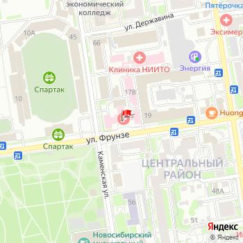 г. Новосибирск, ул. Фрунзе,17 на карта