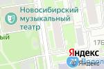 Схема проезда до компании Академия печати в Новосибирске