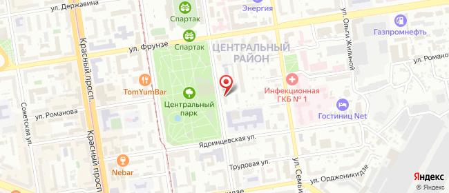 Карта расположения пункта доставки Новосибирск Каменская в городе Новосибирск