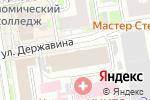 Схема проезда до компании Enjoy в Новосибирске