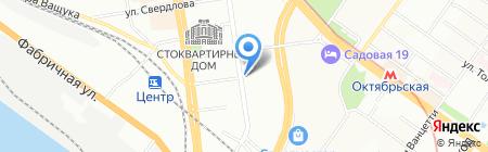 Сибирский дворик на карте Новосибирска