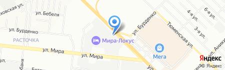 Мегапарк на карте Новосибирска