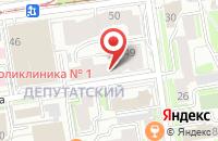 Схема проезда до компании Океан в Новосибирске