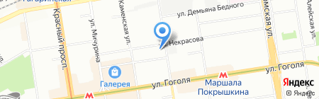 Баутехник на карте Новосибирска
