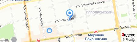ДИПЛОМАТ на карте Новосибирска