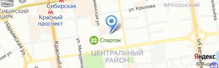 Сибакадемстрой на карте Новосибирска