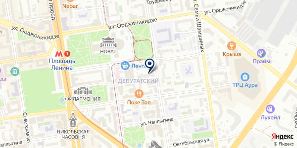 Петер Дуссманн-Восток на карте Новосибирске