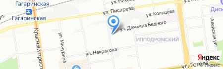 Новосибирский жировой комбинат на карте Новосибирска