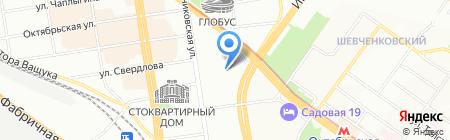 Мегапорт на карте Новосибирска