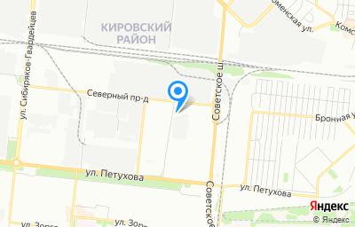 Местоположение на карте пункта техосмотра по адресу г Новосибирск, ул Петухова, д 77/1