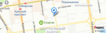 Сити-кухни на карте Новосибирска