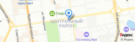 Банкомат Сбербанк России на карте Новосибирска