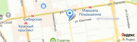 Недвижимость Новосибирска на карте Новосибирска
