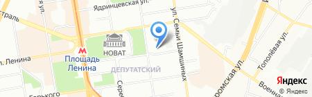 Вереница на карте Новосибирска
