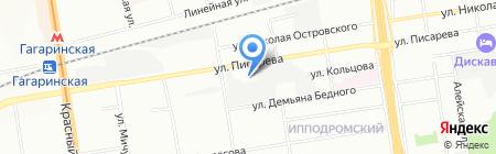 Фёст-Руф на карте Новосибирска