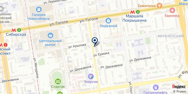 Ажур на карте Новосибирске
