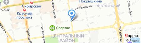 Удачный на карте Новосибирска