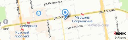Он и Она на карте Новосибирска
