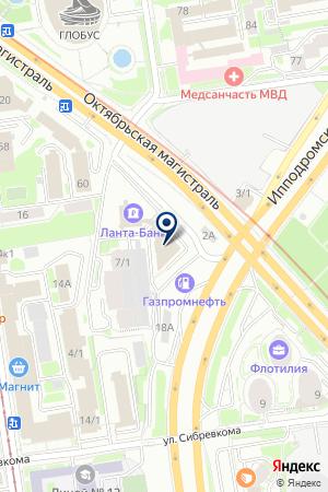 Лизантан Новосибирск на карте Новосибирска