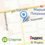 АБВ на карте Новосибирска