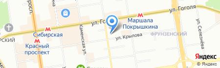 Легирь на карте Новосибирска