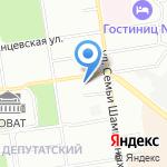 Инской на карте Новосибирска