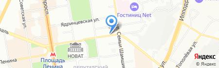 Июль на карте Новосибирска