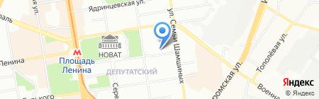 МиллТаун Фудз на карте Новосибирска