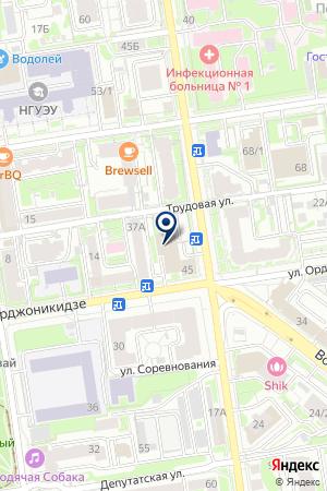СТРОИТЕЛЬНОЕ УПРАВЛЕНИЕ СИБМЕТРОСПЕЦСТРОЙ-НОВОСИБИРСК на карте Новосибирска