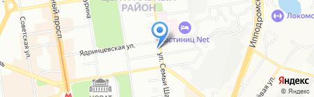Банкомат КБ Москоммерцбанк на карте Новосибирска