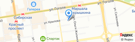 Образ на карте Новосибирска