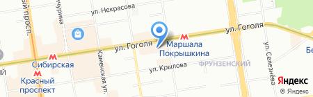 MERADA на карте Новосибирска