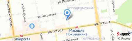 Константа на карте Новосибирска