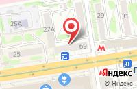 Схема проезда до компании Кба в Новосибирске
