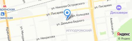 Банкомат Банк Москвы на карте Новосибирска