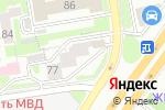 Схема проезда до компании Здоровая семья в Новосибирске
