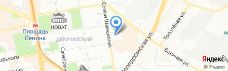 Лайм на карте Новосибирска