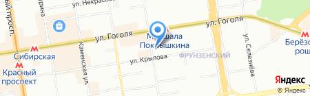 Сибириада на карте Новосибирска