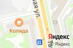 Схема проезда до компании Читай-Город в Новосибирске