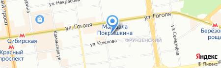 Сибирская Благозвонница на карте Новосибирска