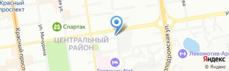Астра на карте Новосибирска