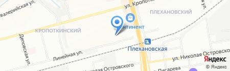 Средняя общеобразовательная школа №17 на карте Новосибирска