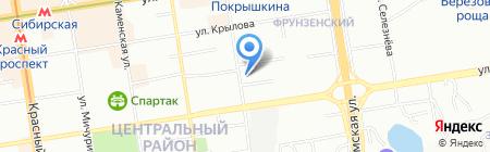 Атмосфера строительства на карте Новосибирска
